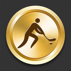Hockey on Golden Internet Button