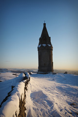 Hartshead Pike In The Snow