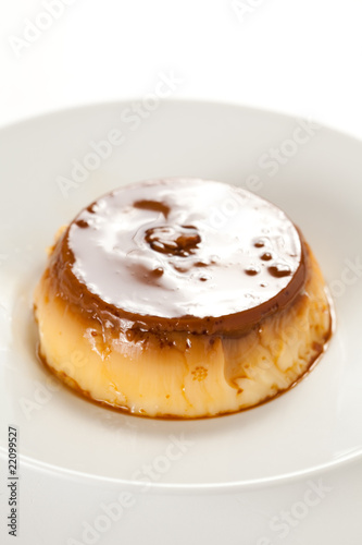 homemade egg flan with caramel