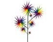 molinillos de colores en rama