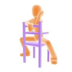 sitting_C_orange