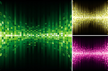 Set of Abstract digital background.