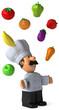 Chef et légumes