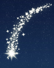 christmas wishing shooting star