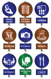 Entertainment recreation tourism sign collection poster