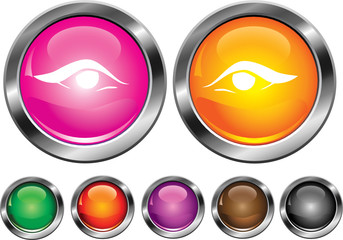 Vector collection icons with eye sign