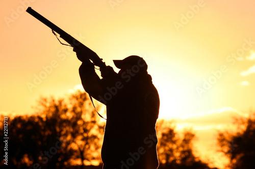 Fotobehang Jacht Murtoli chasse au canard