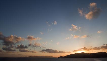 Tortola, sunset