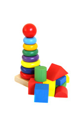 Bright wooden toys
