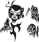 Stolen lion. Tribal predators. poster