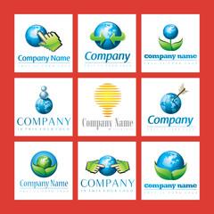 vector logos eco planet