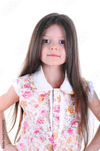 Girl in a flowered blouse