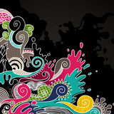 Psychedelic artistic colored background. poster