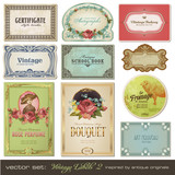Fototapety vector set: vintage labels 2
