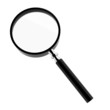 3d render of magnifier on white
