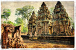 Quadro ancient cambodian temple
