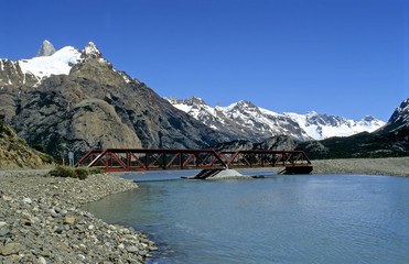 River and bridge in Patagonia