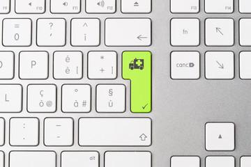 Keyboard - Ambulance Symbol
