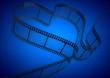 Heart Shape Film Strip