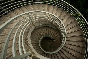 spiraling stairs