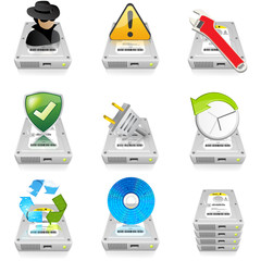 Hard Drive Icon Set 2