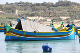 traditional maltese fishing boat poster