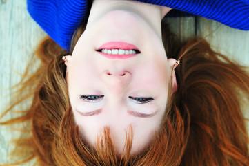 redheaded face