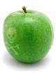 Grüner vergifteter Apfel
