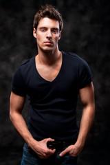 Fashion Shot of a Young Man A trendy European man