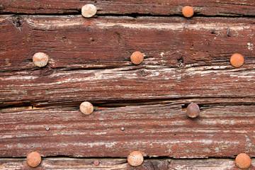 dettaglio di un antico portone in legno