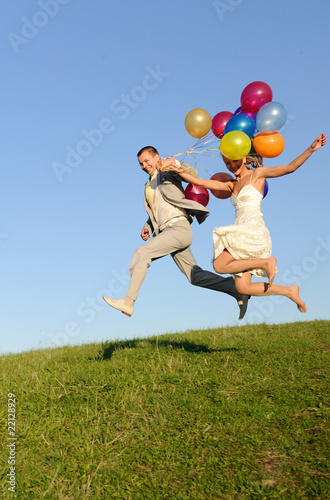 wedding jumping