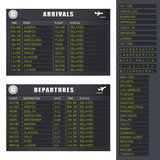 Flight Information - Set 1 - Black and Yellow
