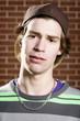 Young skateboarder head shot