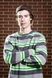 Young skateboarder portrait