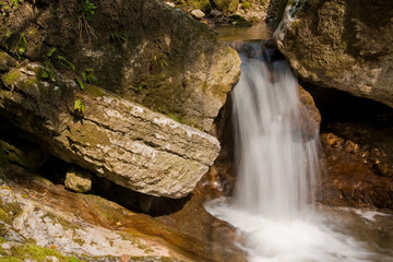Waterfall with stones