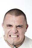 jeune homme en colère rage poster