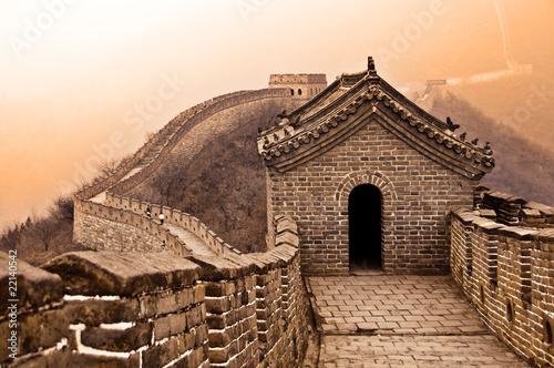 Fotobehang Chinese Muur Grande muraille de Chine - Great wall of China, Mutianyu