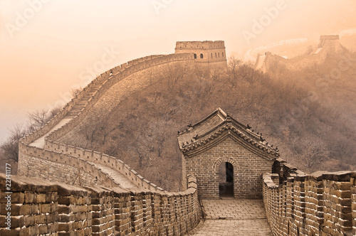 Poster Chinese Muur Grande muraille de Chine - Great wall of China, Mutianyu