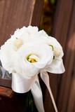 hanging flower on handrail poster