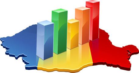 Statistiques de la Roumanie (détouré)