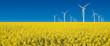 turbine eoliche in prato giallo fiorito