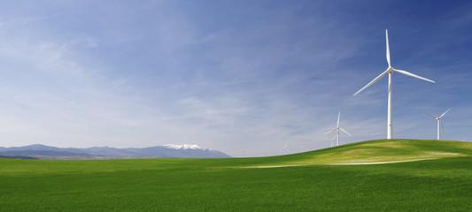 idyllic windmills