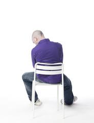 homme de dos solitude isolément honte