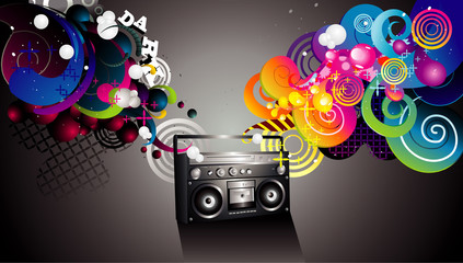 Music recorder vector