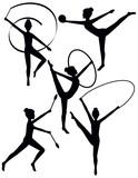 Rhythmic Gymnasts Silhouettes - 22150309