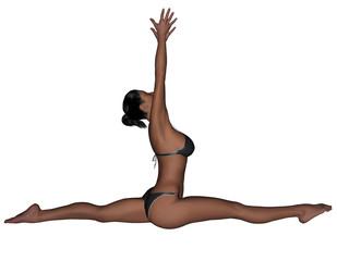 Yoga - Monkey Pose