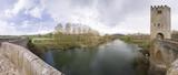 Puente de Frias sobre el rio Ebro poster