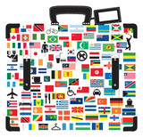 Suitcase for traveller. poster