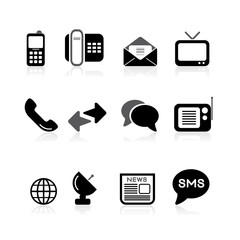 simple comunications icons