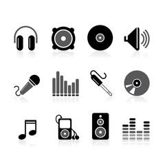 simple audio icons